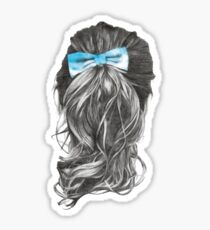 girl with sky bow Sticker