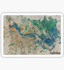 Amsterdam, the watercolor beauty Sticker