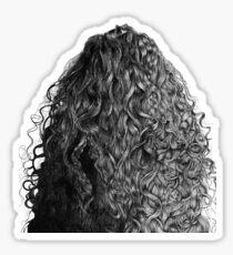 curly hair Sticker