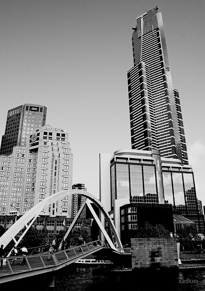 Melbourne's Eureka Tower by xadium