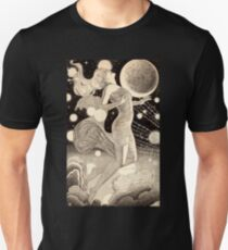 Vintage Science Fiction Stars and Planets Pulp Story Illustration Unisex T-Shirt