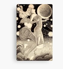 Vintage Science Fiction Stars and Planets Pulp Story Illustration Canvas Print