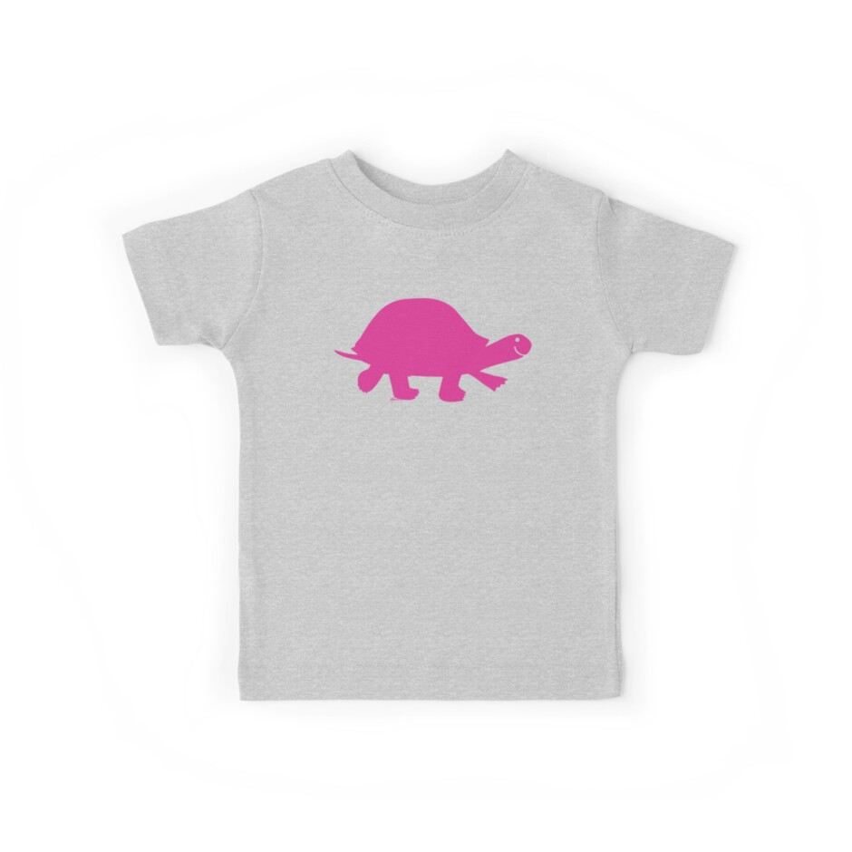 7bb6f1c1 Pink Turtle Happiness - Fun T-Shirt by Hans