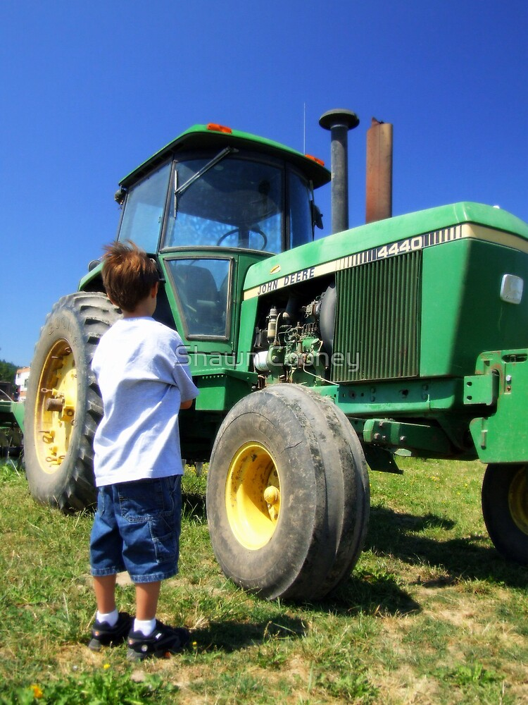 Little Boy - Big Tractor by Shawn Cooney