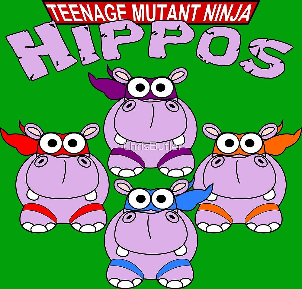 Teenage Mutant Ninja Hippos by ChrisButler