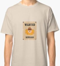 Wanted Wildwest lion poster Rtg7j Classic T-Shirt