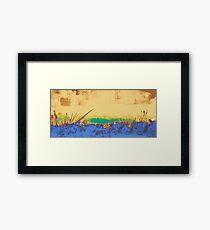 Thermal landscape Framed Print