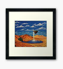 Desolate Cascade Framed Print