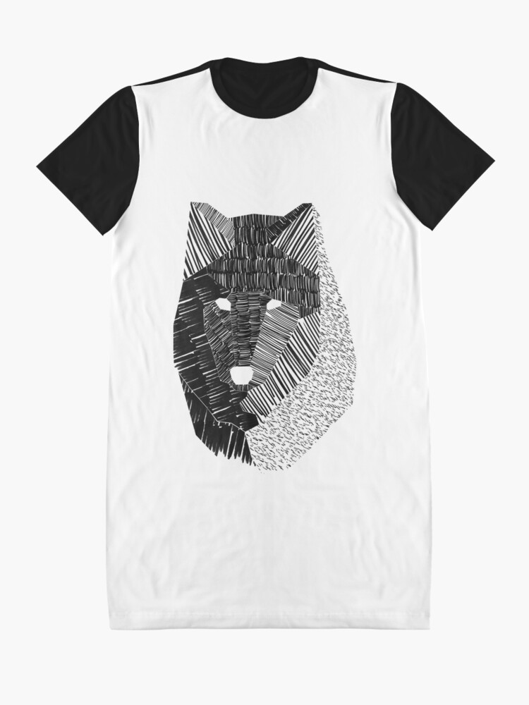 Alternate view of Wolf Mask Graphic T-Shirt Dress