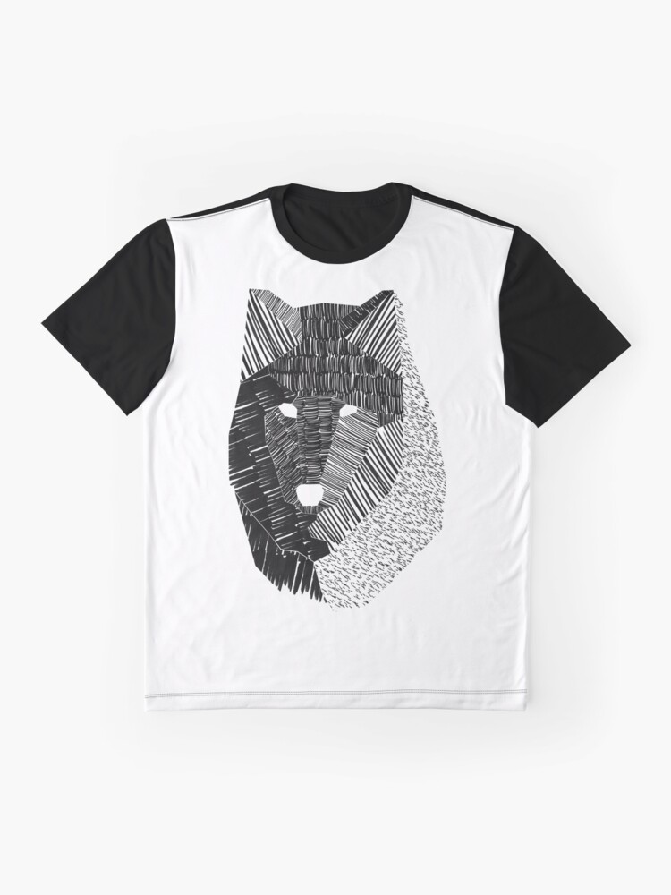 Alternate view of Wolf Mask Graphic T-Shirt