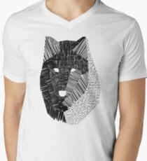 Wolf Mask Men's V-Neck T-Shirt