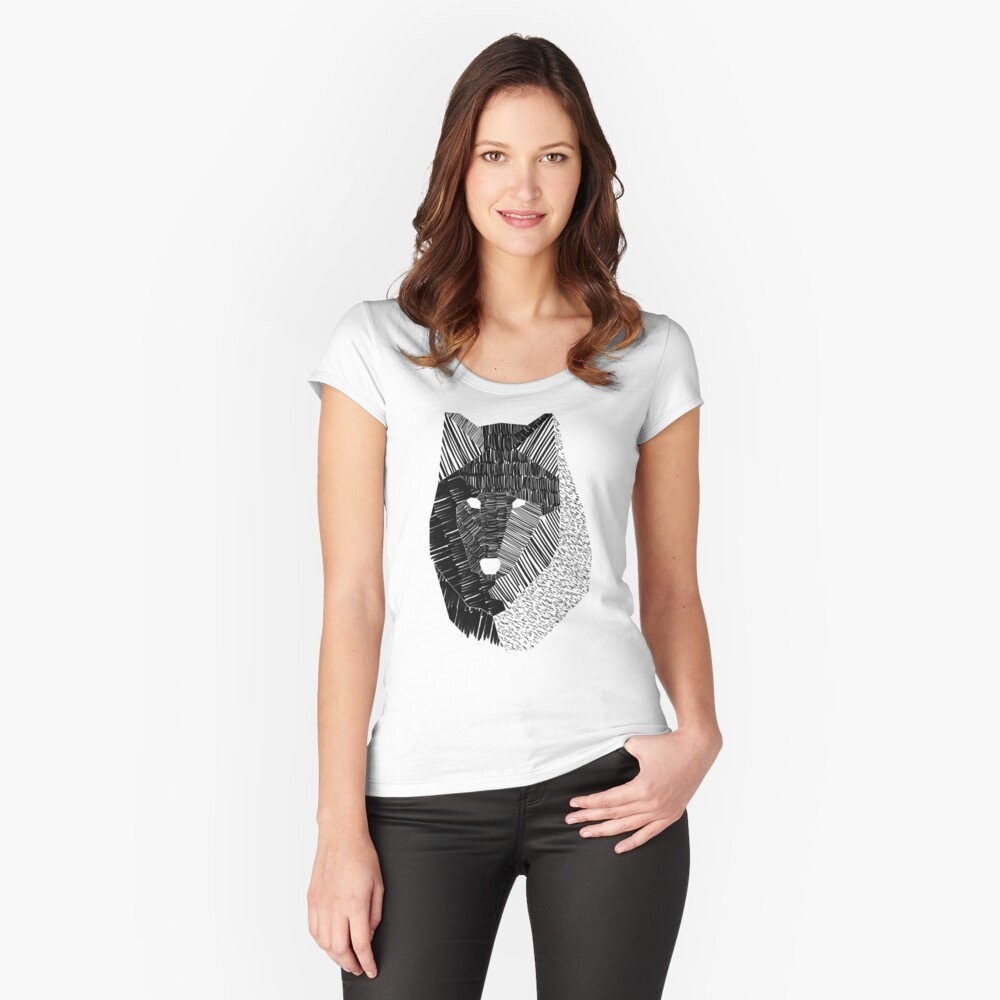 Wolf Mask Fitted Scoop T-Shirt
