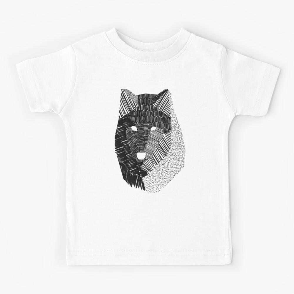 Wolf Mask Kids T-Shirt