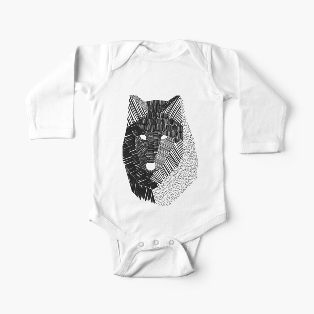 Wolf Mask Baby One-Piece