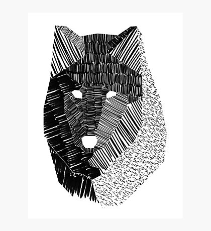 Wolf Mask Photographic Print