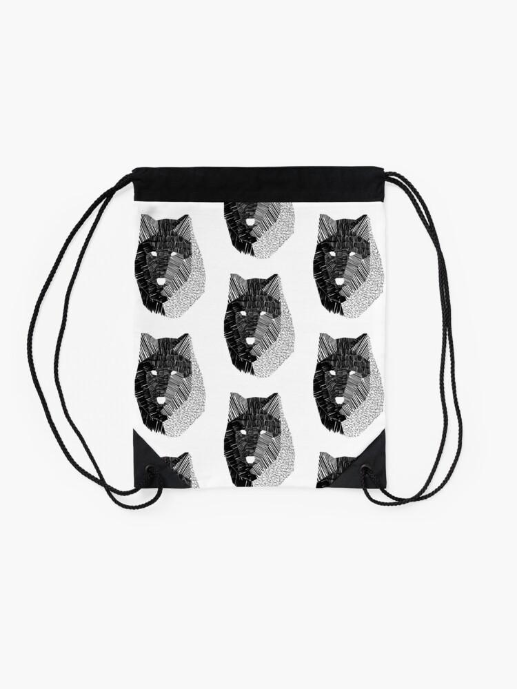 Alternate view of Wolf Mask Drawstring Bag