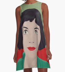 Amelie illustration Vestido acampanado