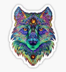 Psychedelic Wolf Sticker