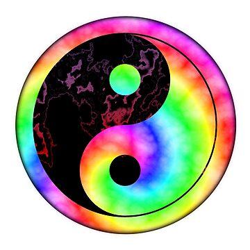 Rainbow Spiral Yin Yang by yarddawg