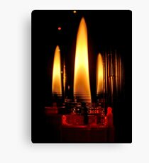 Water Candles Canvas Print