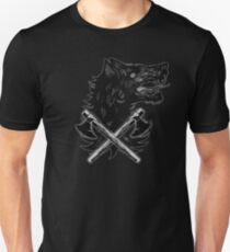 Viking Wolf Axe Throwing Brotherhood of Wolves Iron and Blood Unisex T-Shirt