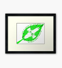 I am a leaf in the wind, watch how I soar!  Serenity/Firefly inspired artwork. Framed Print