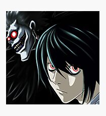 Ryuk and L from the Anime/Manga TV show Death Note: Original Digital Painting Photographic Print