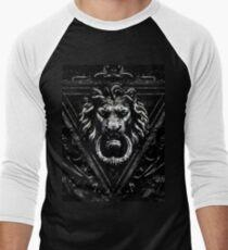 Gothic Lion Schwarz Baseballshirt für Männer