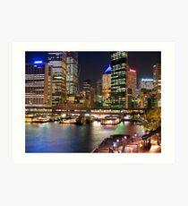 Colour of Sydney Harbour Art Print