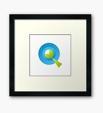 Letter Q of english alphabet Framed Print
