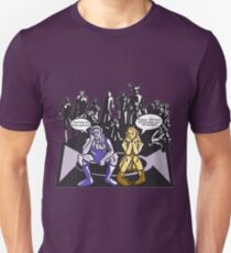 Dark Elf and Wood Elf waiting for Boss to Spawn; Everquest/WoW MMORPG funny Comic Hand-Drawn Illustration  T-Shirt