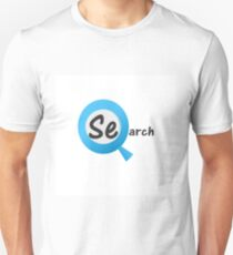 Search with a magnifying glass Unisex T-Shirt