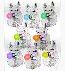 Llama Slumber Party Poster