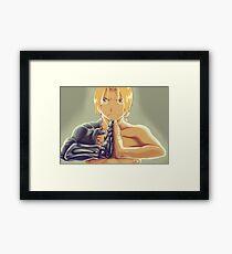 Fullmetal Awesomeness (Digital Painting of Edward Elric from the Manga/Anime Fullmetal Alchemist)  Framed Print