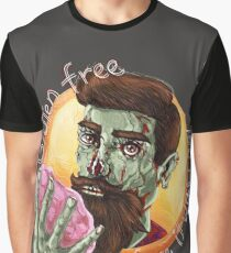 """Zombie Hipster - """"Gluten-Free Before it Was Cool"""": original hand-drawn illustration Graphic T-Shirt"""