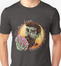 """Zombie Hipster - """"Gluten-Free Before it Was Cool"""": original hand-drawn illustration Unisex T-Shirt"""