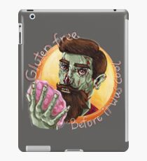 """Zombie Hipster - """"Gluten-Free Before it Was Cool"""": original hand-drawn illustration iPad Case/Skin"""