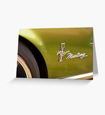 Little brown pony car Greeting Card