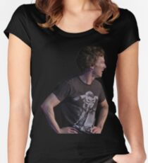 Benedict Cumberbatch- Shakespeare's Hamlet David Bowie Women's Fitted Scoop T-Shirt