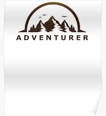 Adventurer Journey Travel Explore Earth Outdoors  Poster