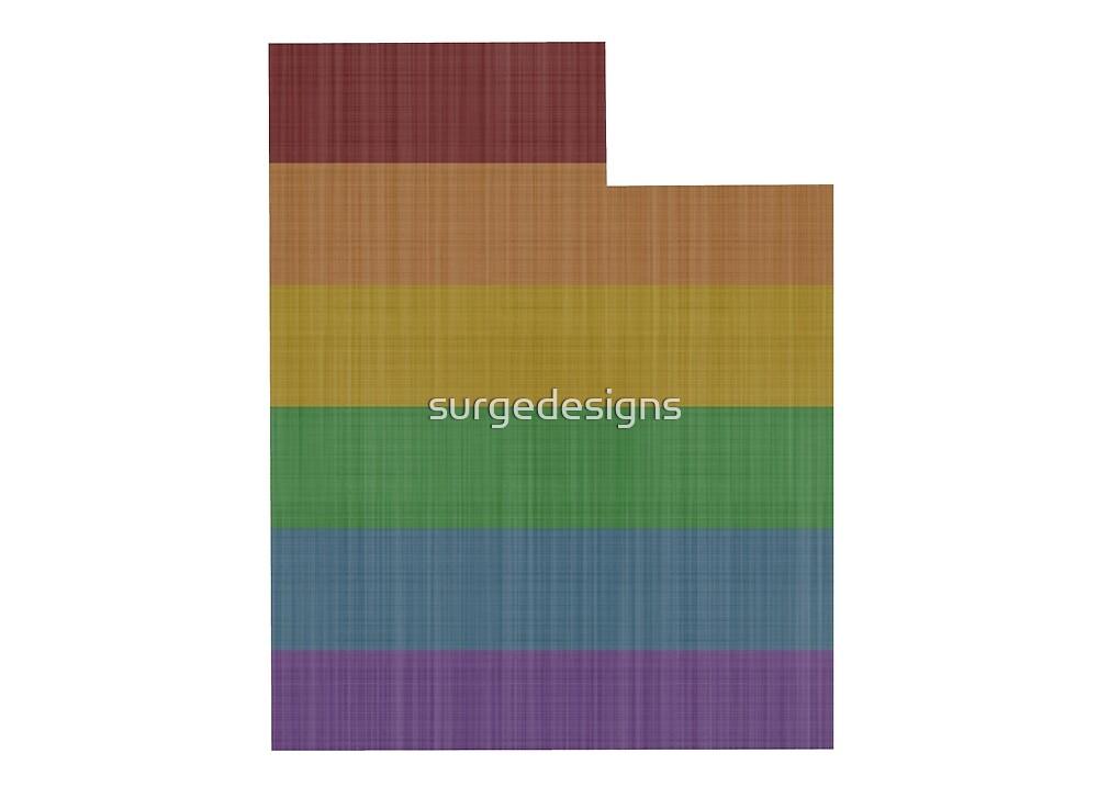 Utah Rainbow Gay Pride by surgedesigns
