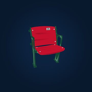 The Lone Red Seat - Red Sox - Fenway Park by TheKidsAlright