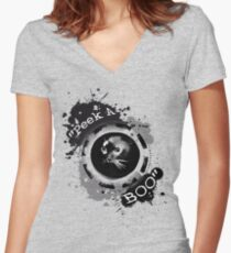 Peek A Boo! Women's Fitted V-Neck T-Shirt