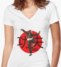 Kung Fu Kenny (Kendrick Lamar) Women's Fitted V-Neck T-Shirt