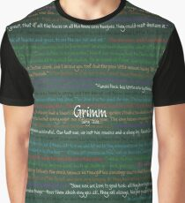 Grimm Fairy Tales Green Chalk Board Graphic T-Shirt