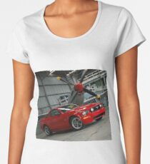 2005 Ford Mustang and  1940 P51-D (front) Women's Premium T-Shirt