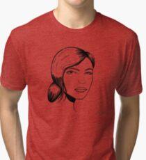 female portrait Tri-blend T-Shirt