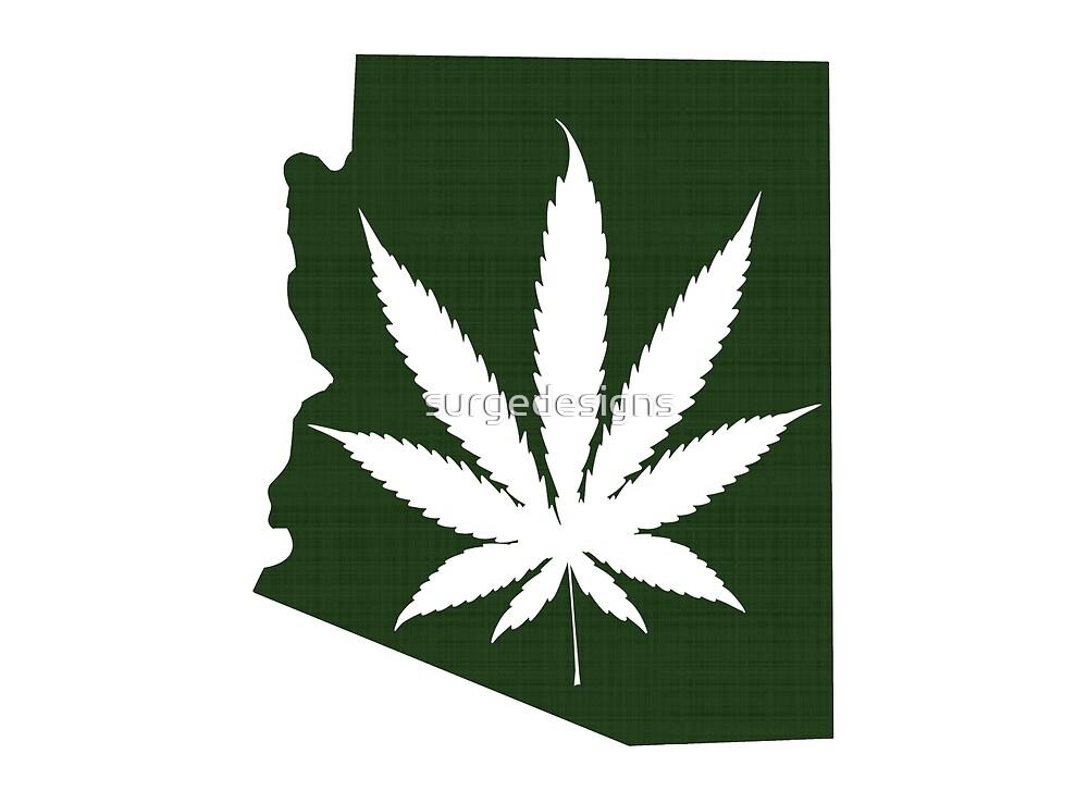 Marijuana Leaf Arizona by surgedesigns