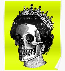 God save the skull faced Queen Poster