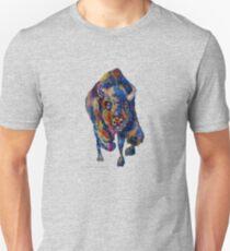 Charging Buffalo Watercolor Print T-Shirt